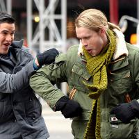 Glee saison 5 : Lea Michele, Darren Criss et Chord Overstreet sur le tournage