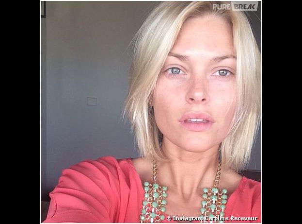 Caroline Receveur sans maquillage sur Instagram, le 19 mars 2014