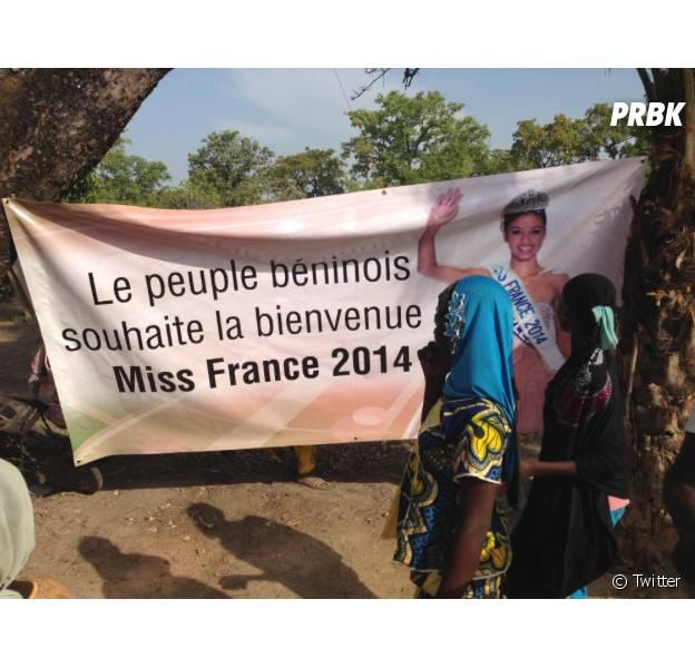 Flora Coquerel : Miss France 2014 en visite au Bénin lors d'un voyage humanitaire