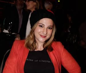 Marilou Berry avant/après : blonde et rayonnante à la 300e de Bérengère Krief, le 31 mars 2014