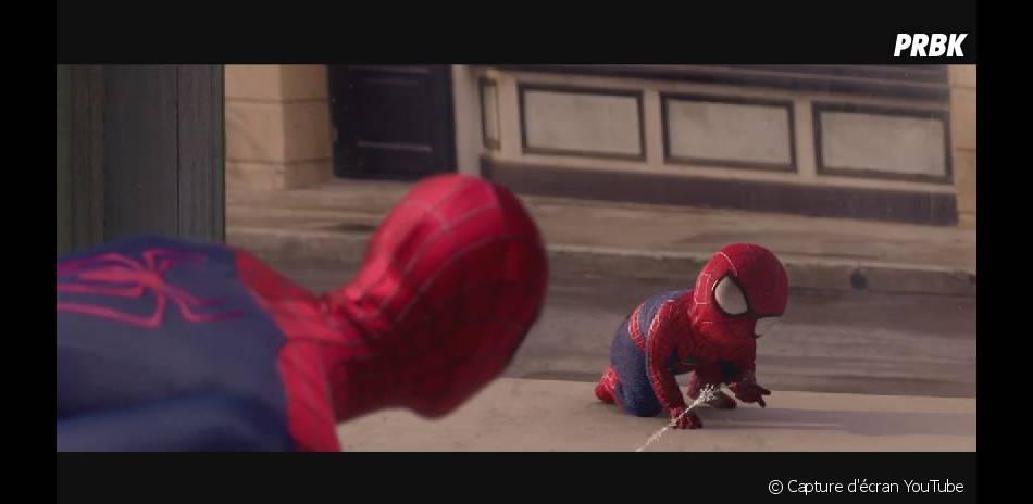 The Amazing Baby & me : Evian transforme Spider-Man en bébé