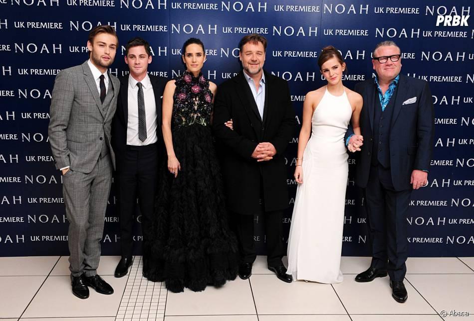 Logan Lerman et l'équipe de Noé