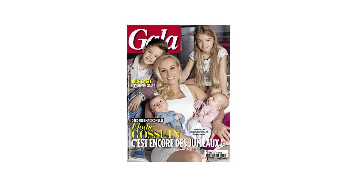 Elodie gossuin et ses quatre enfants en couverture de gala - Elodie gossuin et ses enfants ...