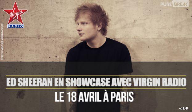 Ed Sheeran en showcase privé Virgin Radio !