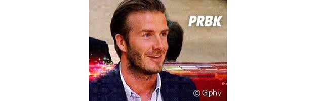 David Beckham rainbow