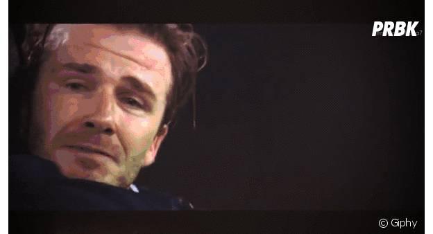 David Beckham pleure