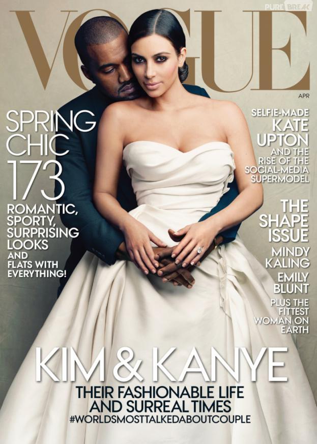 Kim Kardashian et Kanye West, futurs mariés sur la couverture du magazine Vogue