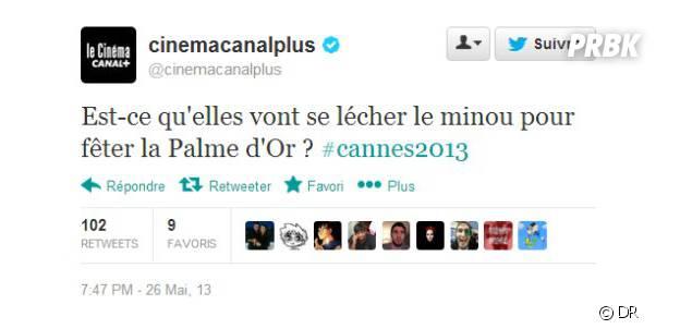 Le tweet polémique après la victoire de La vie d'Adèle en 2013