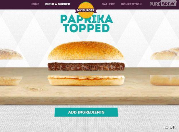 My Burger : l'application de McDonald's pour composer le Burger de ses rêves