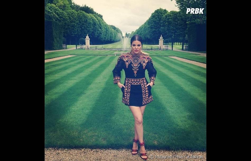 Khloe Kardashian tape la pose au château de Versailles avant le mariage de sa soeur Kim