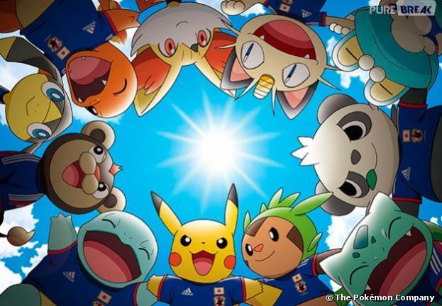 Pikachu est la mascotte officielle de l'Equipe du Japon pendant la Coupe du Monde 2014
