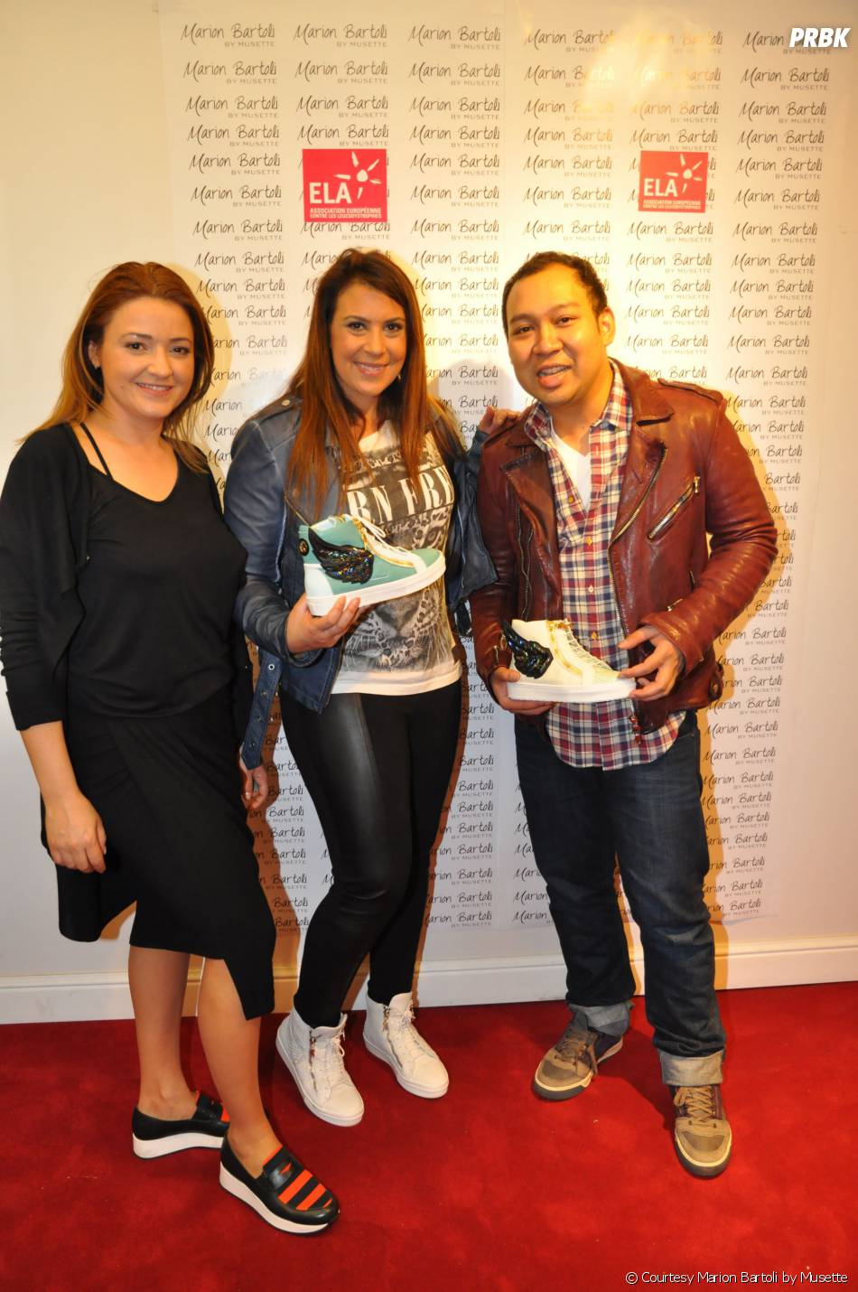 Marion Bartoli et la créatrice Cristina Batlan à la soirée de lancement des sneakers Marion Bartoli by Musette, le 2 juin 2014 à Paris
