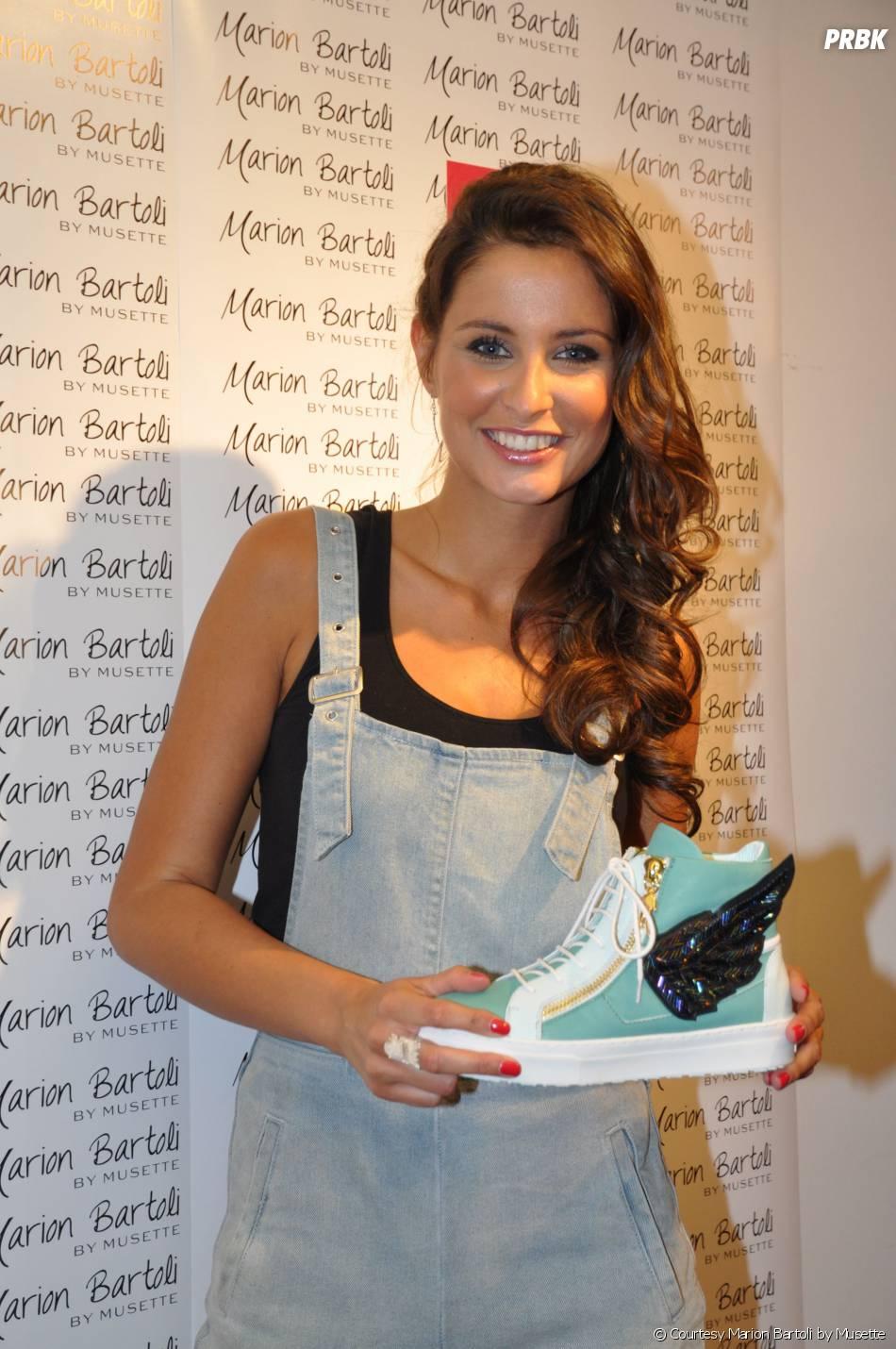 Malika Ménard à la soirée de lancement des sneakers Marion Bartoli by Musette, le 2 juin 2014 à Paris