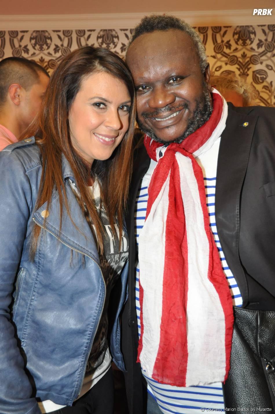 Marion Bartoli et Magloire à la soirée de lancement des sneakers Marion Bartoli by Musette, le 2 juin 2014 à Paris
