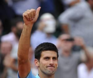Novak Djokovic pendant le tournoi de Roland Garros 2014