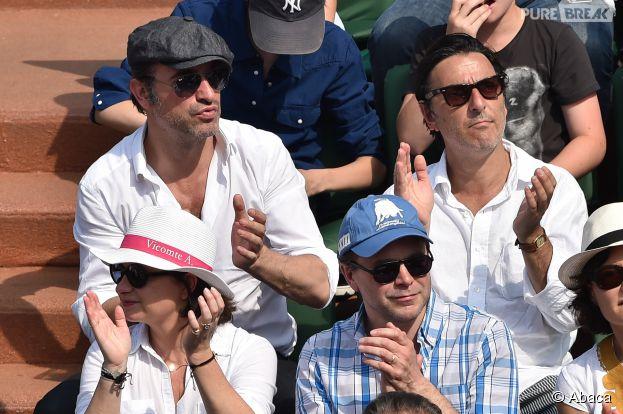 Jean Dujardin lors de la finale de Roland Garros à Paris, ce 8 juin 2014