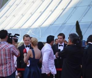 Diego Klatenhoff et Torrance Coombs lors de la soirée de clôture du 54ème Festival de Monte Carlo
