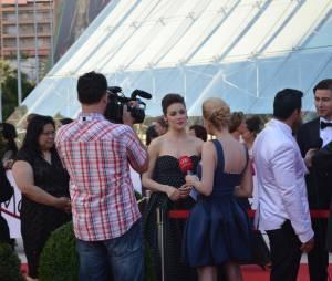 Megan Boone lors de la soirée de clôture du 54ème Festival de Monte Carlo