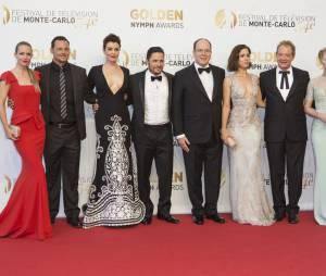 AJ Cook, Justin Chambers, Bellamy Young, Nick Wechsler, Ana Ortiz, Jeff Perry, Jennifer Morrison et le Prince Albert à la soirée de clôture du 54ème Festival de Monte Carlo 2014