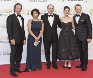 William Fitchner, Baeur Rola, Megan Boone et Diego Klattenhoff lors de la soirée de clôture du Festival de Monte Carlo 2014