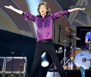 Mick Jagger sur scène pour le concert des Rolling Stones le 13 juin 2014 au Stade de France
