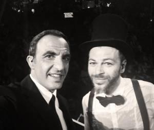 Nikos Aliagas et Christophe Maé lors de la soirée La Chanson de l'année 2014, le 14 juin sur TF1