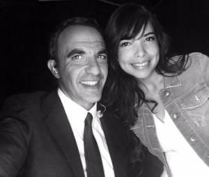 Nikos Aliagas et Indila lors de la soirée La Chanson de l'année 2014, le 14 juin sur TF1