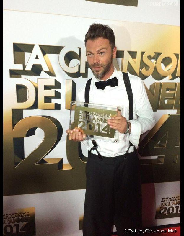 Christophe Maé, grand gagnant de La Chanson de l'année 2014, le 14 juin sur TF1