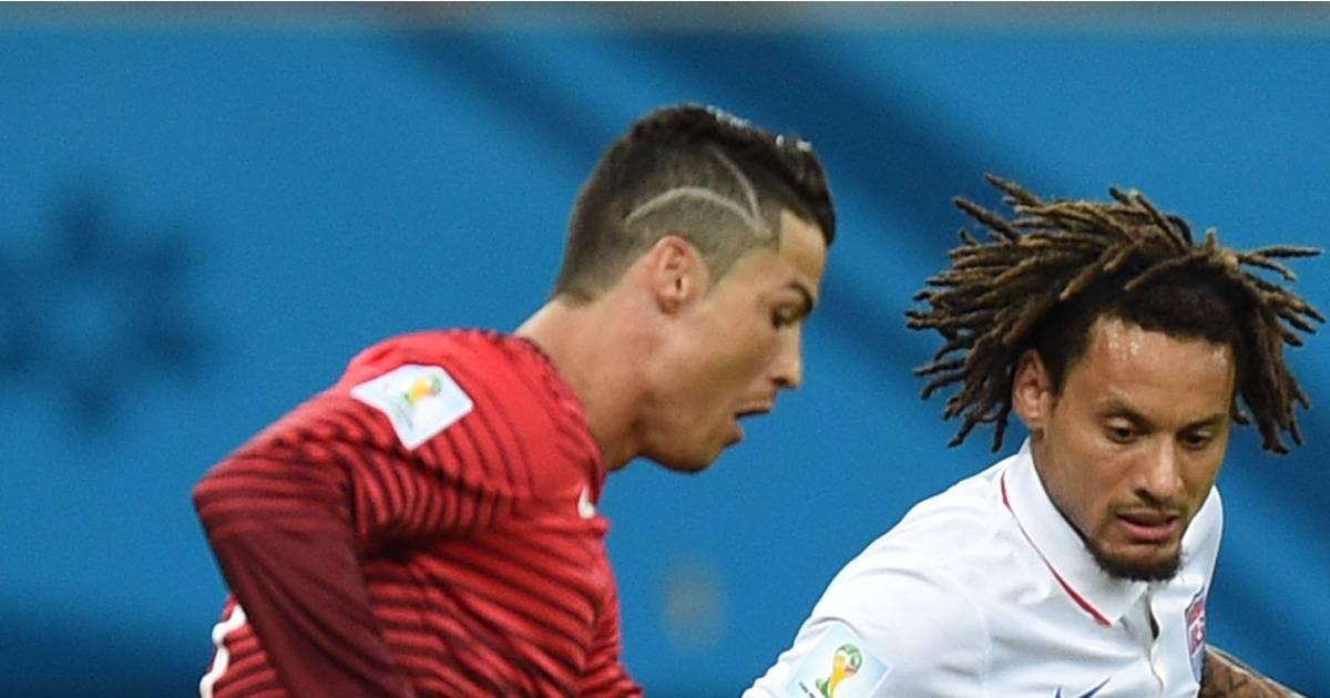 Cristiano ronaldo nouvelle coupe de cheveux pendant portugal vs etats unis purebreak - Coupe christiano ronaldo ...