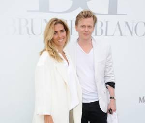 Vahina Giocante et Alex Lutz au Brunch Blanc organisé par le groupe Barrière à Paris, le 29 juin 2014