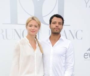Virginie Efira et Mabrouk El Mechri au Brunch Blanc organisé par le groupe Barrière à Paris, le 29 juin 2014
