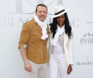 Samuel Le Bihan et sa femme au Brunch Blanc organisé par le groupe Barrière à Paris, le 29 juin 2014
