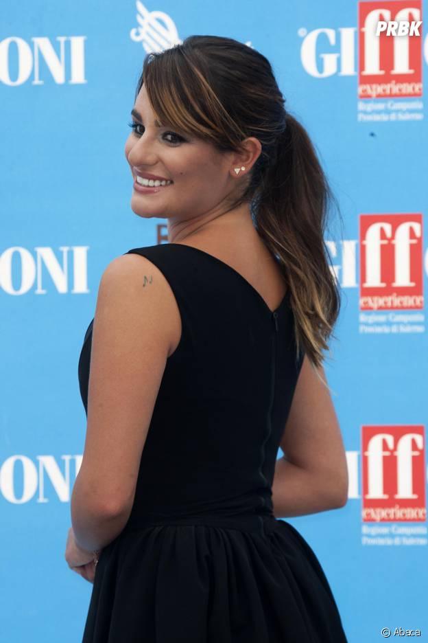 Lea Michele décolletée au Festival Giffoni en Italie le dimanche 20 juillet 2014