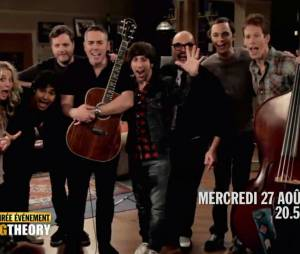 The Big Bang Theory saison 6 : les acteurs avec les Barenaked Ladies