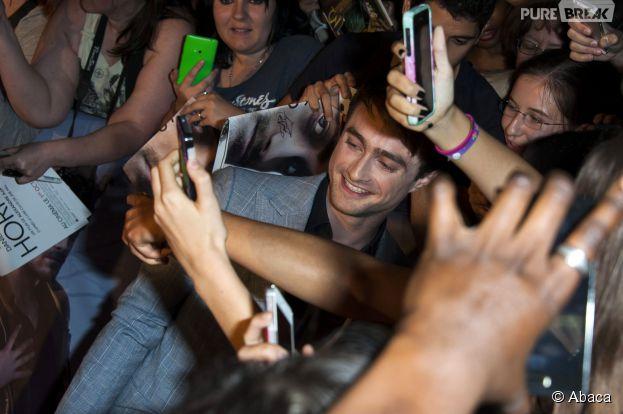 Daniel Radcliffe et ses fans à l'avant-première de Horns à Paris le 16 septembre 2014
