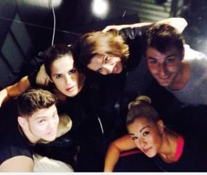 Rayane Bensetti, Elisa Tovati, Brian Joubert et leurs danseurs pendant les répétitions de Danse avec les stars 5