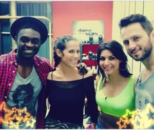 Corneille, Elisa Tovati et leurs danseurs pendant les répétitions de Danse avec les stars 5