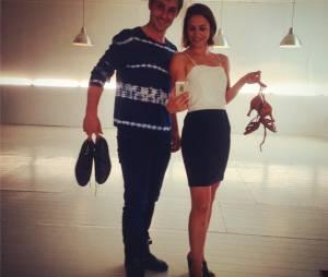 Brian Joubert et Nathalie Péchalat pendant les répétitions de Danse avec les stars 5