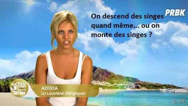 """Adixia (Les Ch'tis dans la Jet Set) : """"on descend du singe... ou on monte du singe ?"""""""