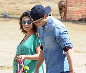 Mila Kunis et Ashton Kutcher trois jours avant la naissance de leur fille