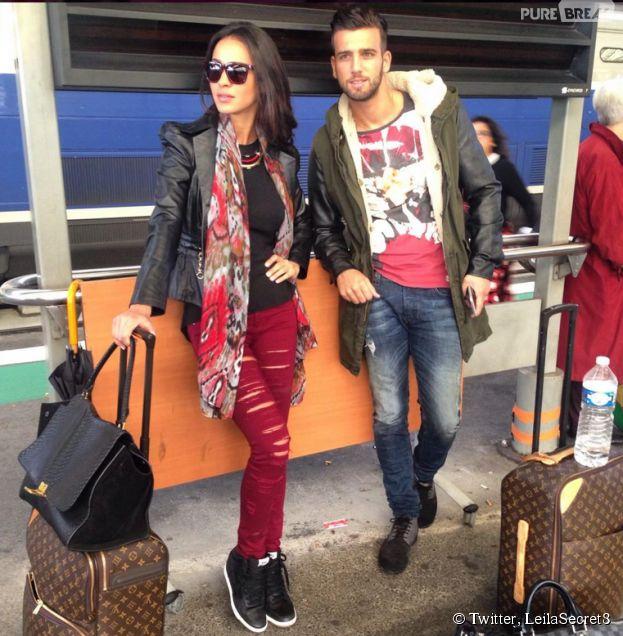Leila et Aymeric (Secret Story 8) après un booking à Bordeaux