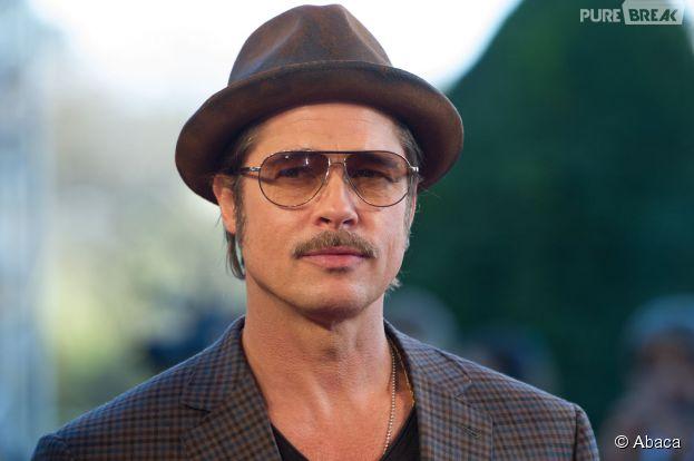 Brad Pitt à Paris pour l'avant-première du film Fury, le 18 octobre 2014