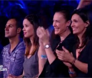 Miguel Angel Munoz : Dafné Fernandez, sa partenaire d'Un Dos Tres qui jouait Marta Ramos dans le public de Danse avec les stars 5, le 18 octobre 2014