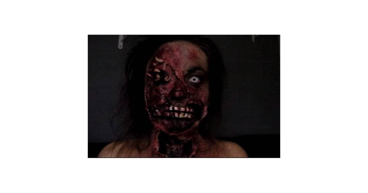 halloween tuto vid o maquillage de zombie. Black Bedroom Furniture Sets. Home Design Ideas
