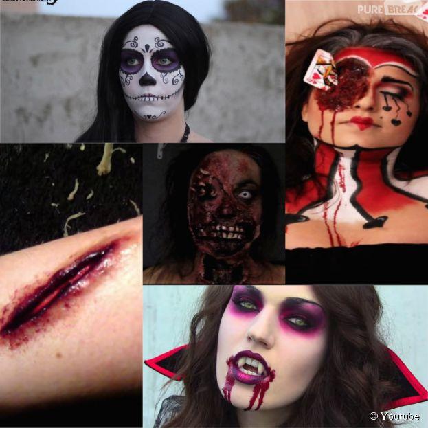 maquillage zombie avec farine