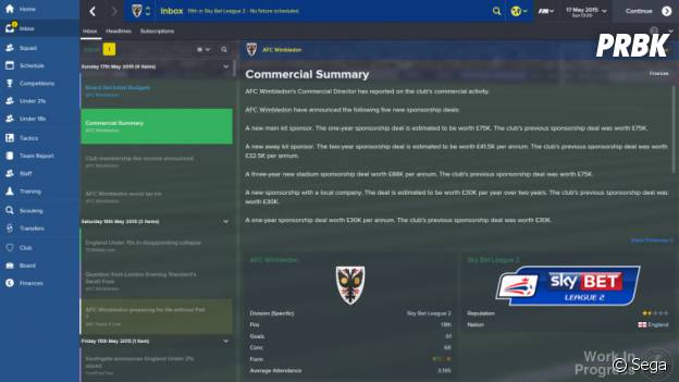 Football Manager 2015 : une interface repensée