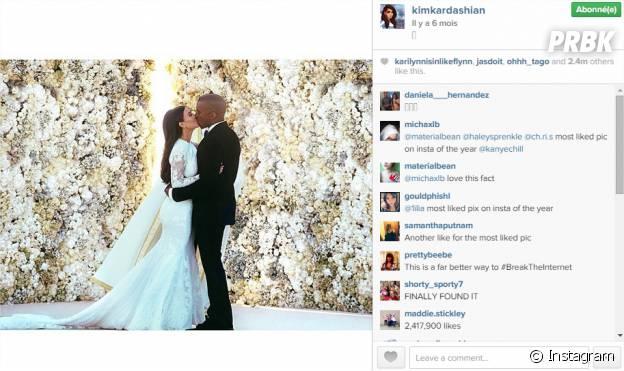 Kim Kardashian et Kanye West : leur photo de mariage numéro 1 d'Instagram en 2014