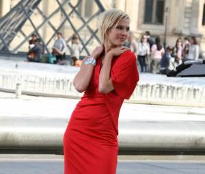 Lorie sur le tournage de la série 'The Young and The Restless', en 2008