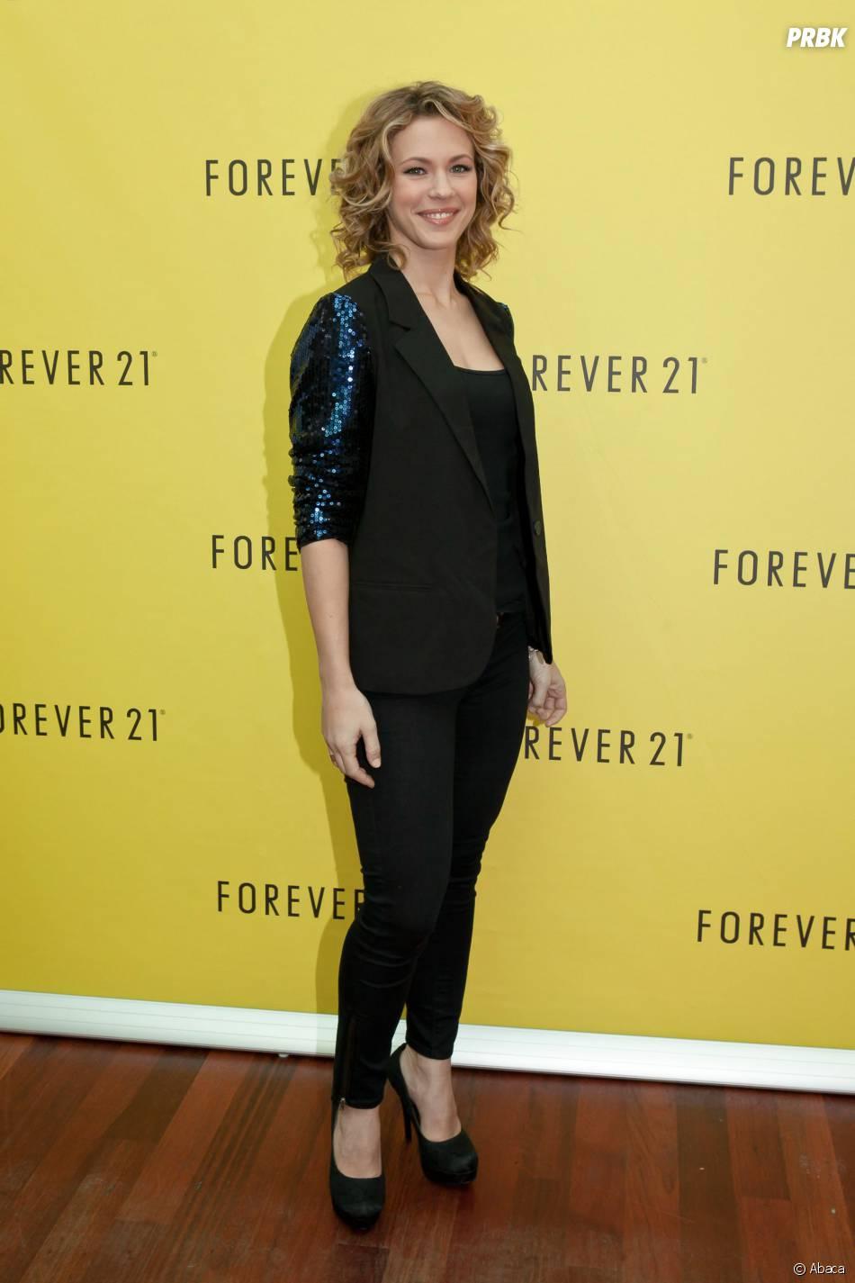 Lorie à l'ouverture de Forever 21, en décembre 2012