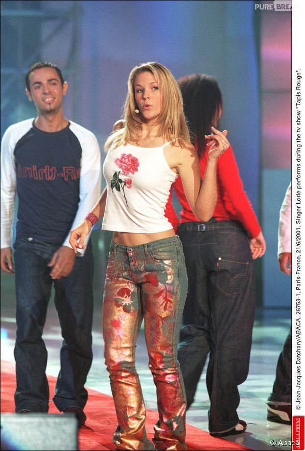 Lorie à ses débuts en 2001
